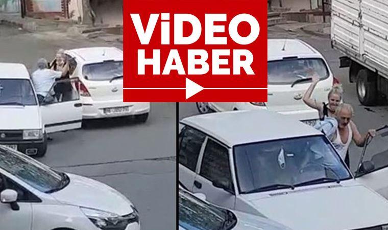 Trafikte saldırdığı kadın tekvandocu çıkınca dayak yedi