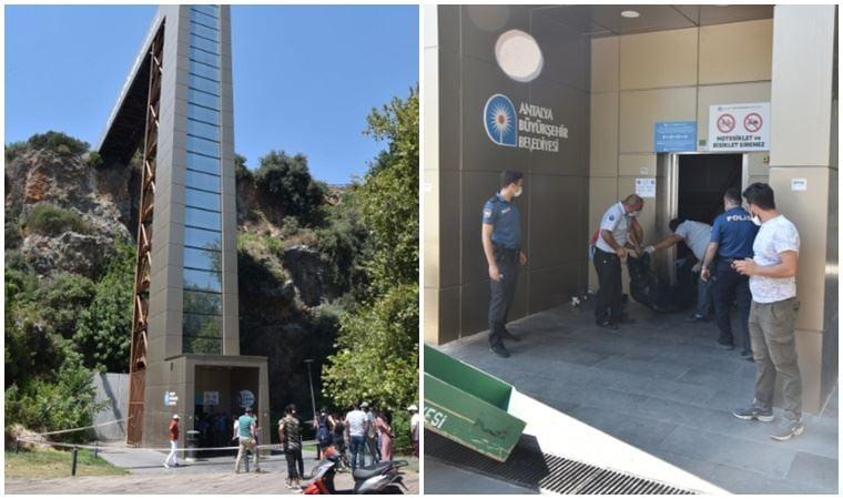 Antalya'da panoramik asansör boşluğunda erkek cesedi bulundu