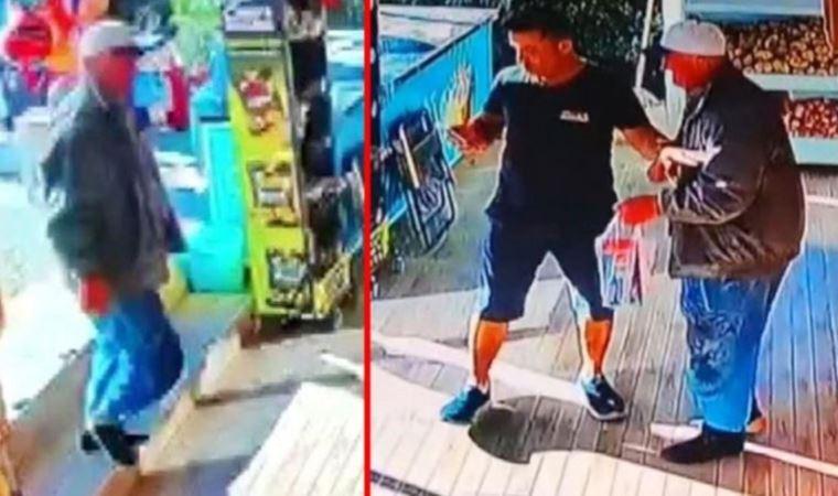 """Antalya'da bir kişi """"yerler kirlenmesin"""" diye markete ayakkabılarını çıkarıp girdi thumbnail"""
