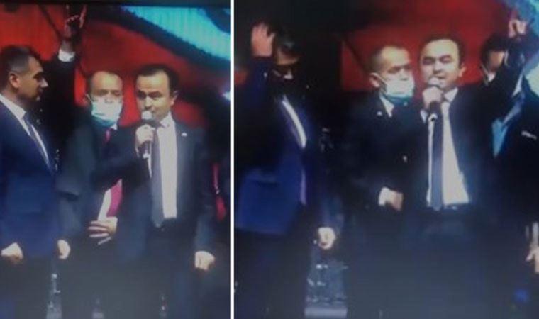 MHP'li başkan 'sahte cumhurbaşkanı' ile sahneye çıktı