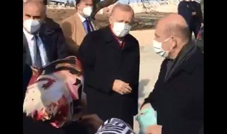 Yurttaş AKP'li Cumhurbaşkanı Erdoğan'a 'açım' diyerek seslendi, Erdoğan umursamadı!