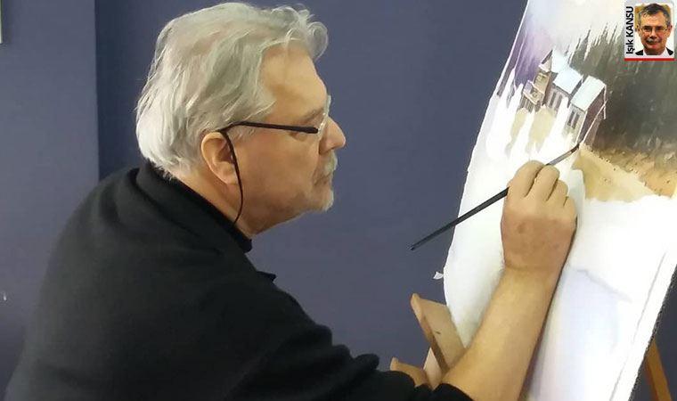 Suluboyaya egemen bir ressam