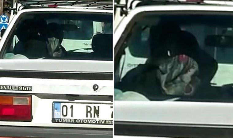 Arabadaki kadın şiddeti sürücüleri şoke etti
