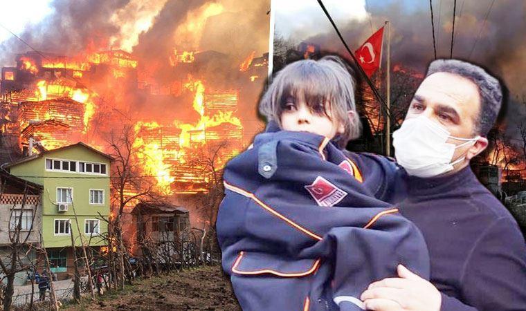Artvin Yusufeli'nde yangın; 60'a yakın ev alevlere teslim oldu