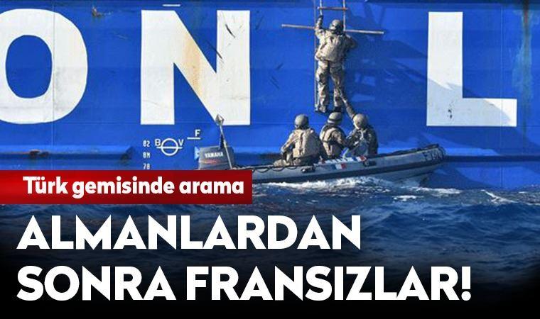 Türk gemisine arama