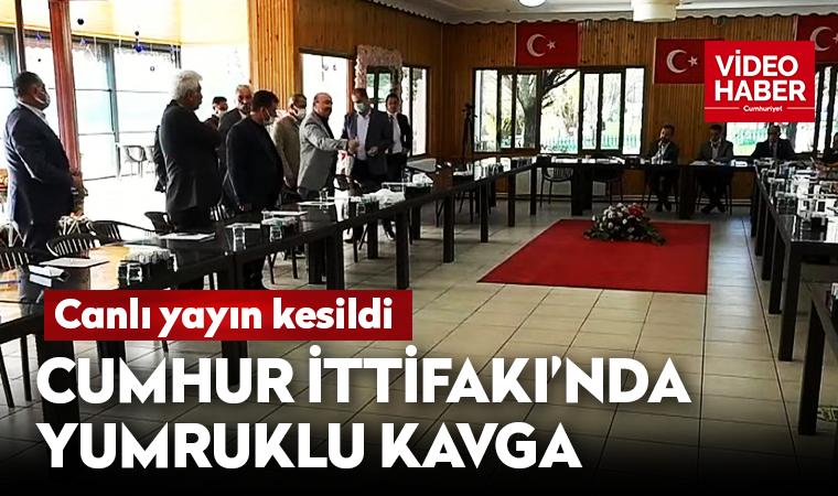 AKP ve MHP'liler birbirine girdi!