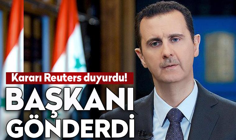 Esad Merkez Bankası Başkanı'nı görevden aldı
