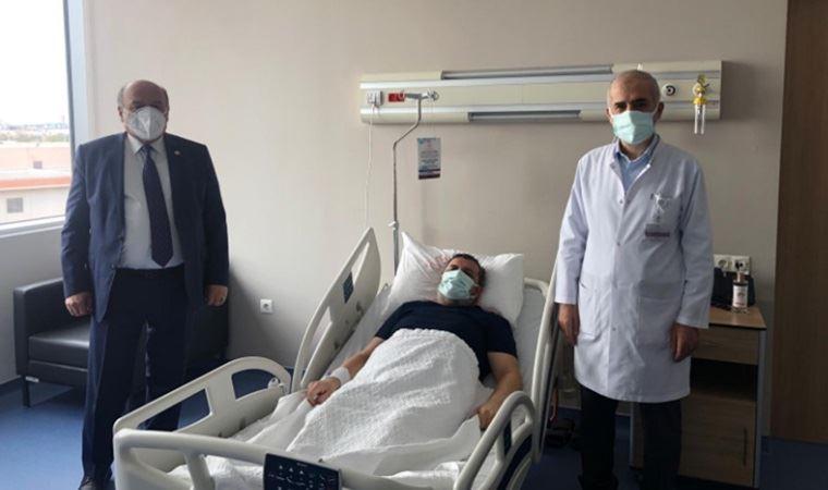 AKP'li vekilden koronavirüs hastası müftüye ziyaret!