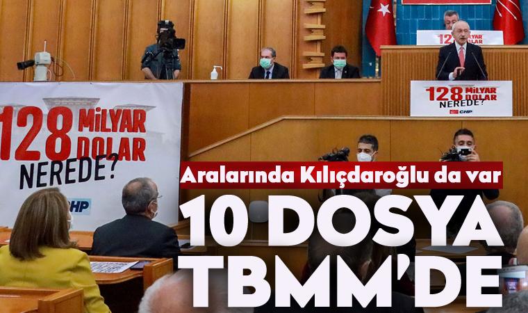 Kılıçdaroğlu ve 9 milletvekilinin dosyası TBMM'de