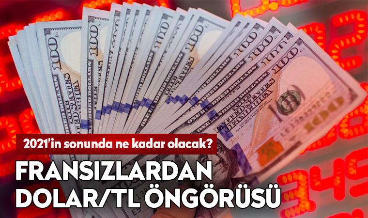 Fransız bankasından Türkiye için dolar kuru öngörüsü