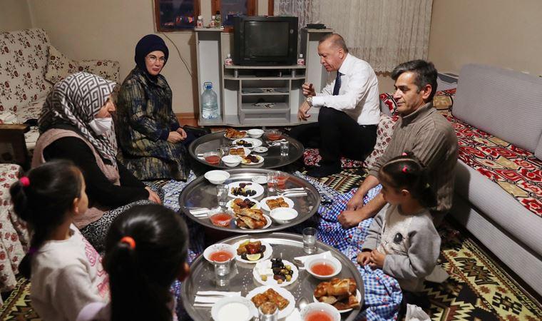 Erdoğan bir yurttaşın evinde iftara katıldı