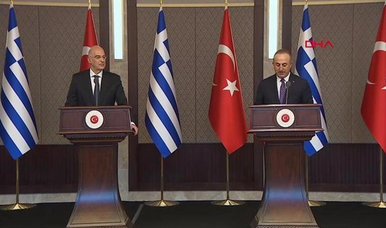 Dışişleri Bakanı Mevlüt Çavuşoğlu ve Yunanistan Dışişleri Bakanı Nikos Dendias canlı yayında atıştı