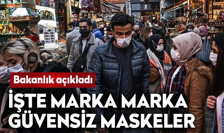 Bakanlık marka marka açıkladı: İşte güvensiz maskeler