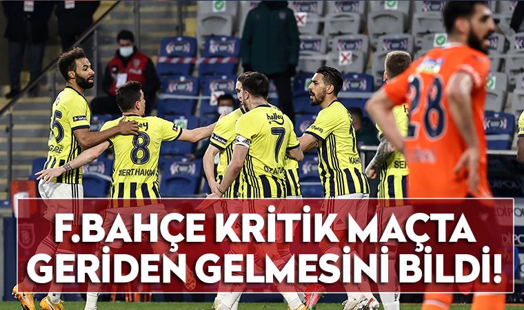 Fenerbahçe kritik maçta geriden gelmesini bildi!