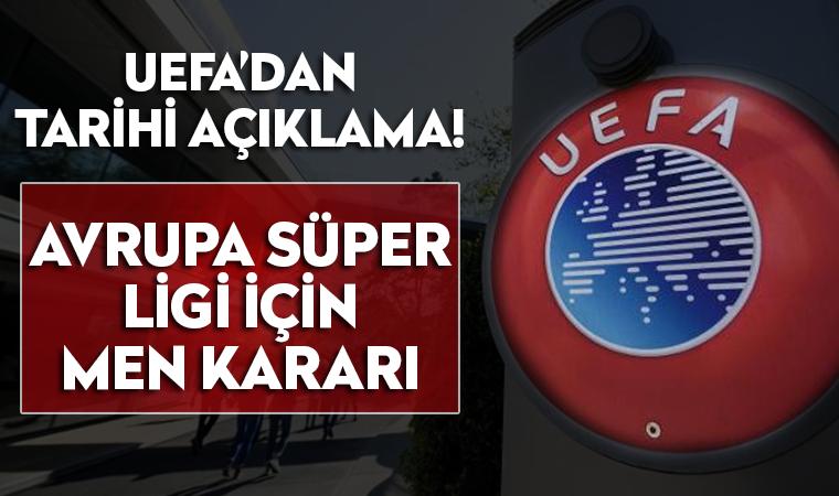UEFA'dan Avrupa Süper Lig'i kararı