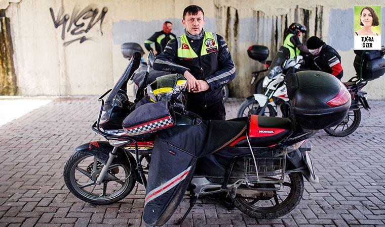 Can güvenliği olmadan çalışan moto kuryeler anlatıyor
