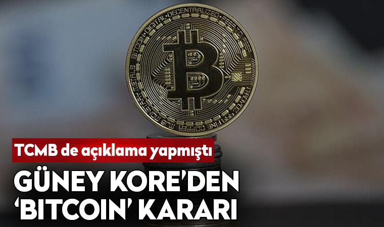 Güney Kore'den 'Bitcoin' kararı