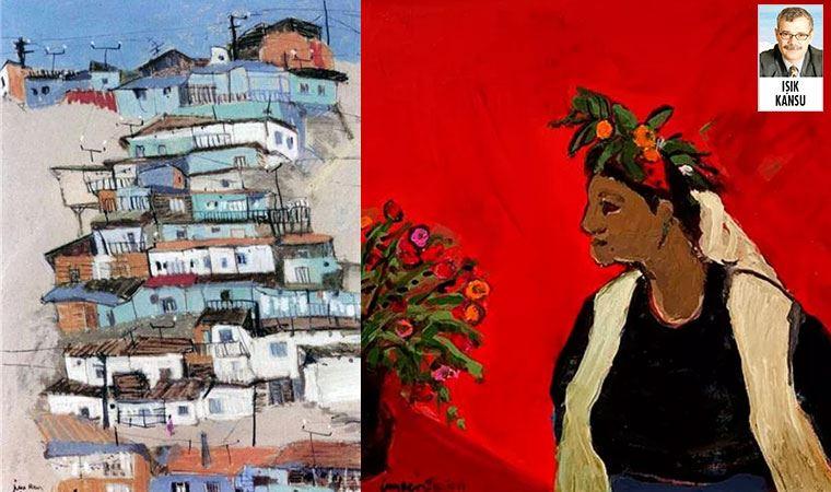 Gecekondu ve çiçekli kadın resimleri ile tanınan İmren Erşen,