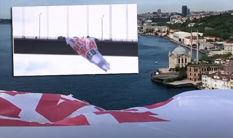 Köprüye dev '128 milyar dolar nerede' pankartı