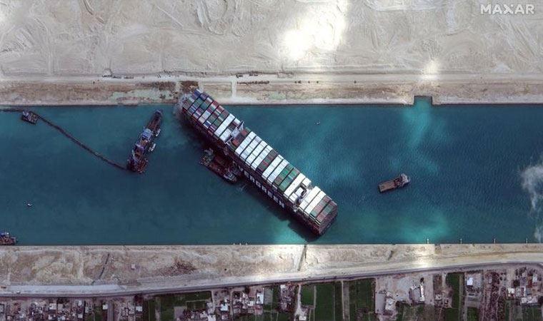 'Ever Given' olayı! Süveyş Kanalı için harekete geçildi