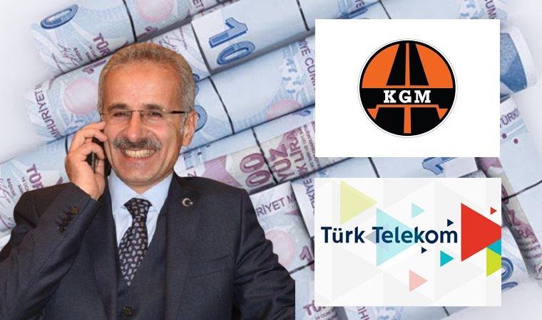 Hem Karayolları'nın hem Türk Telekom'un tepesinde