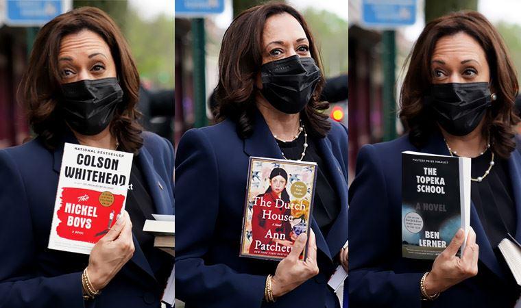 Harris'in elinde tuttuğu 3 kitap