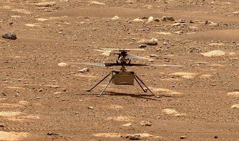 NASA'nın Mars'a gönderdiği keşif aracındaki mini helikopterin uçuşu sırasındaki sesi kayıtlara geçti