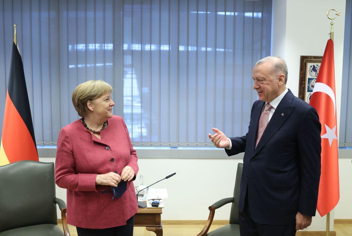Erdoğan'ın NATO Zirvesi kapsamında Brüksel'deki temasları