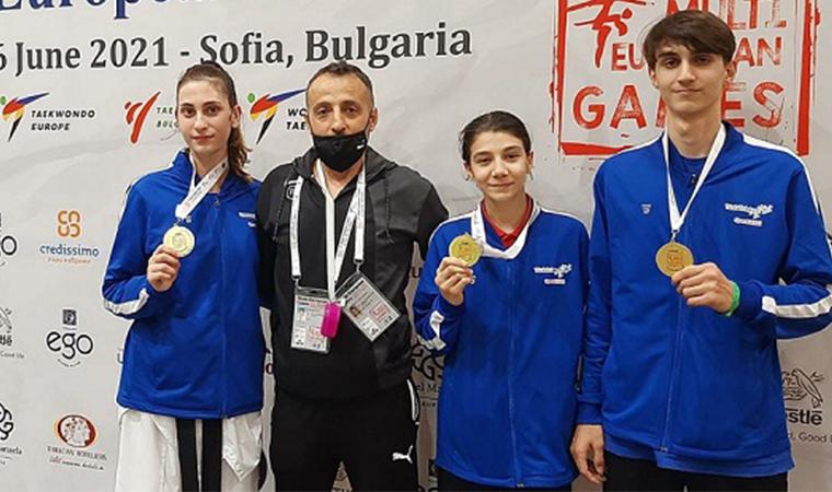 Tekvandocular Avrupa'dan 3 altın madalyayla döndüler