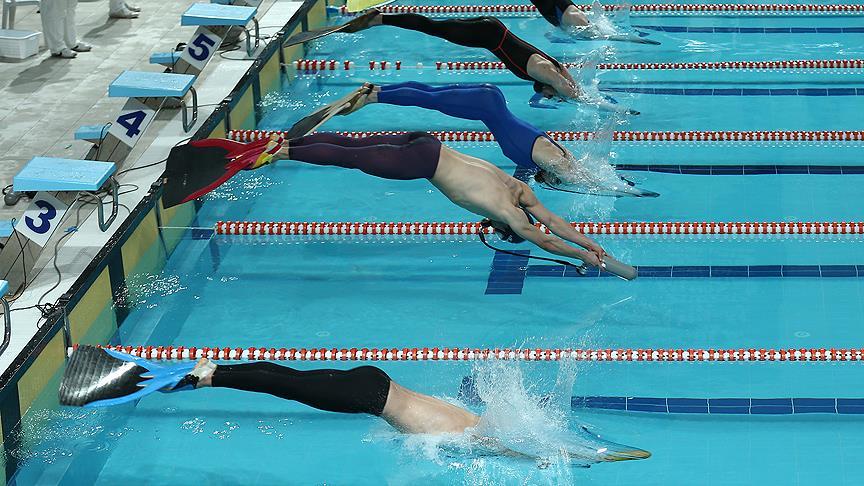 Paletli Yüzme Genç Milli Takımı, bayrak yarışında dünya şampiyonu