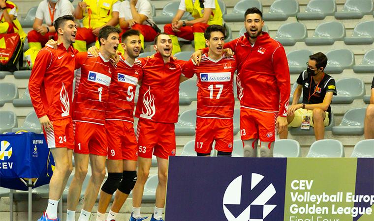 A Milli Erkek Voleybol Takımı, CEV Avrupa Altın Ligi şampiyonu!