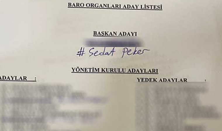 Baro seçiminde sandıktan 'Sedat Peker' çıktı