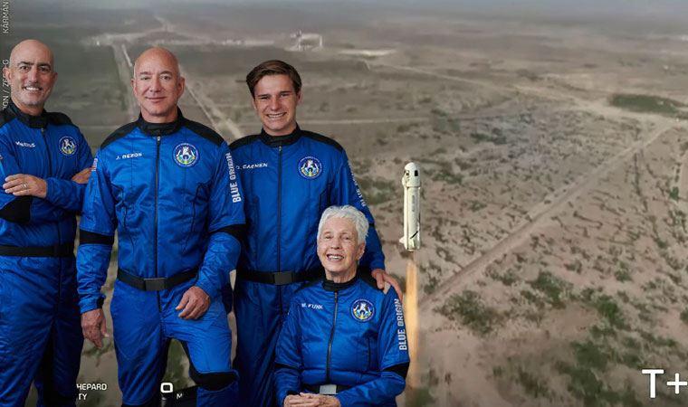 Milyarder iş insanı Jeff Bezos'un uzay aracı uzaya fırlatıldı