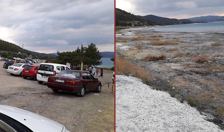 Göl, ziyaretçi akınına uğradı, tahribat sürüyor
