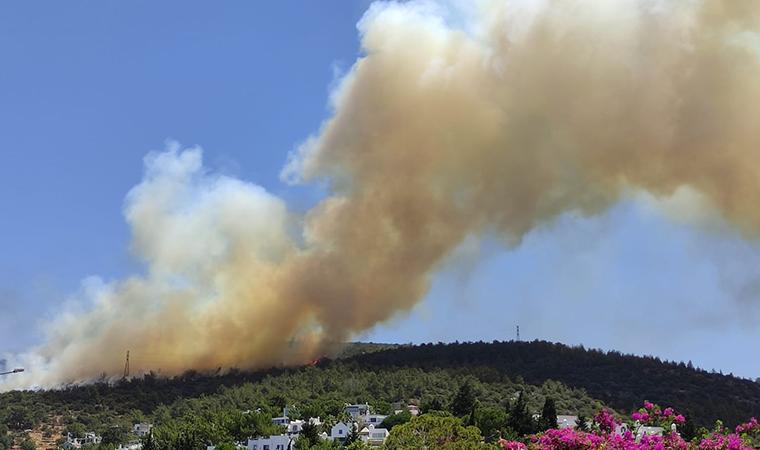Son dakika gelişmesi... Bodrum'da yangın! Patlama sesi duyuldu