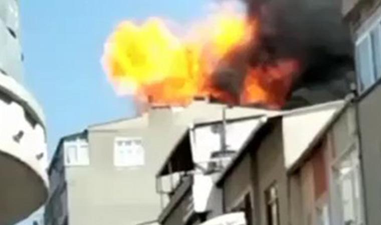 İstanbul'da korku dolu anlar! Yangında patlama oldu
