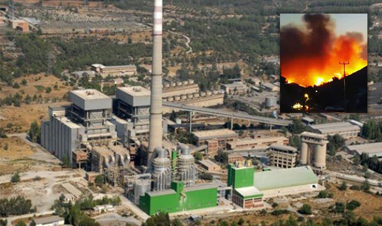 Alevler termik santrali tehdit ediyor