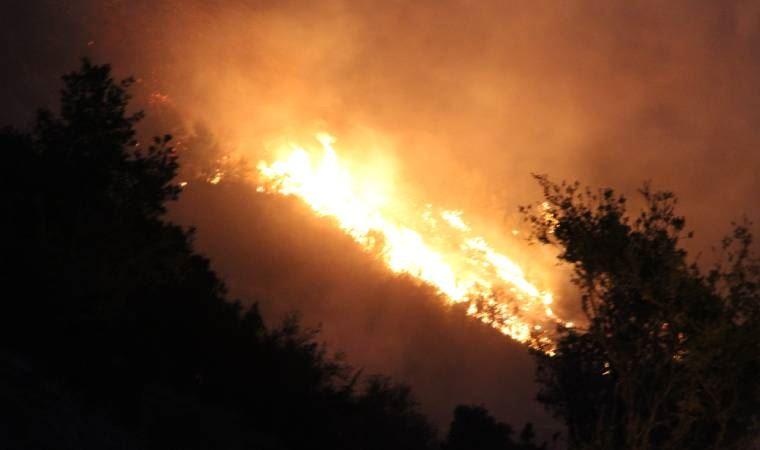 Denizli'de korkutan yangın devam ediyor