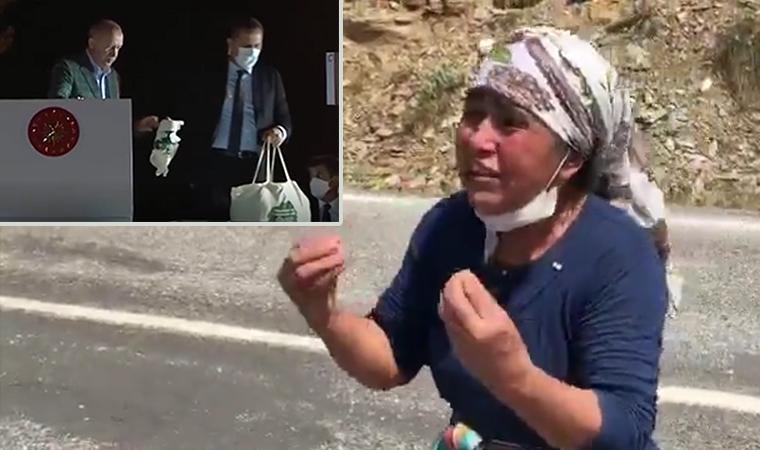 Yangın yerinde köylüden, Erdoğan'a isyan