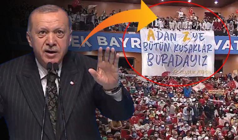 Erdoğan'ı konuşması sırasında endişelendiren olay
