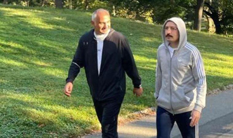 Bakanlar Central Park'ta sabah yürüyüşünde