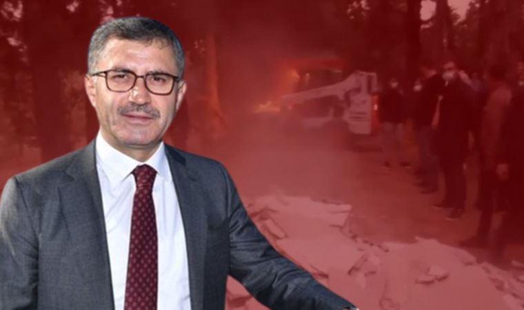 AKP'li başkan çark etti: Molozları biz döktük