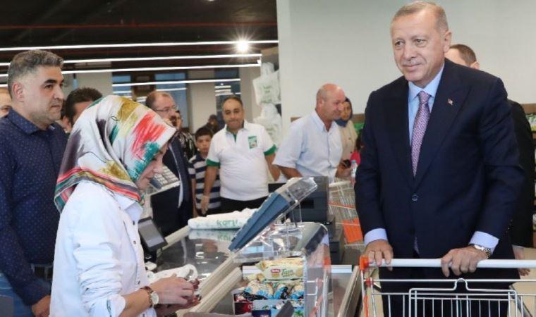 İşte Erdoğan'ın alışveriş sepeti