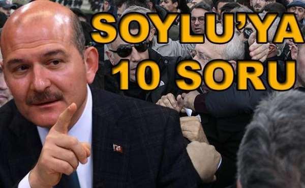 Soylu'ya 10 soru sordu, toplumdan özür dileyerek istifaya davet etti...