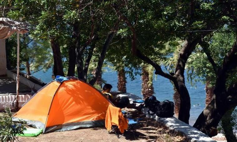 Cennet koylarda bayramda çadır keyfi yapacaklar